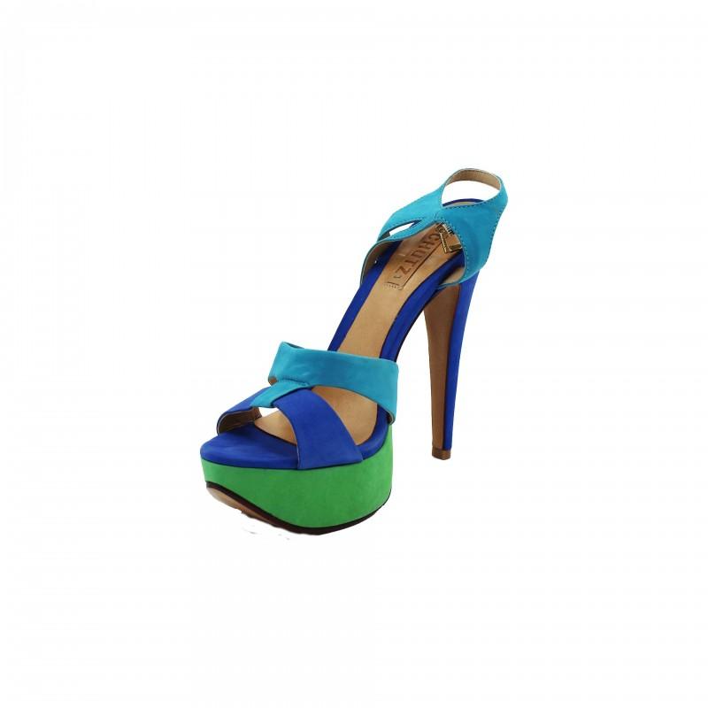 Scarpe Schutz sandalo alto Nobuck