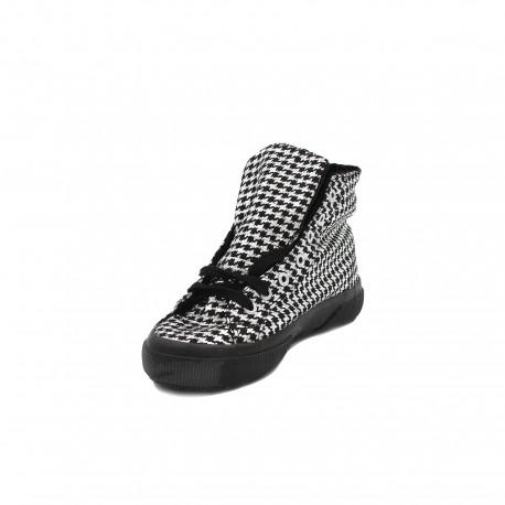 Superga sneakers alte black silver