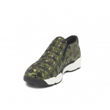 PINKO Slip On Army Green