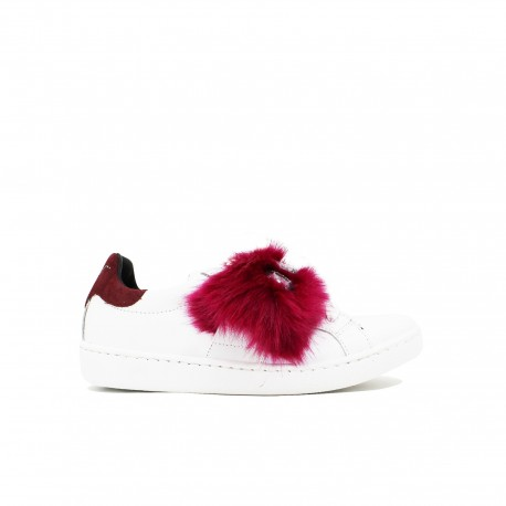 GIULIA NATI Sneakers Fur Bordeaux