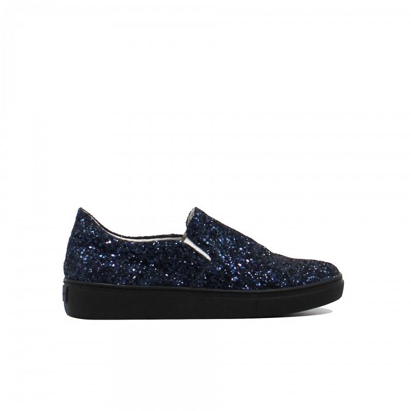 LEMARÉ Slip-On Glitter Blu