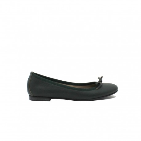 SILVIA CARASI Ballerine Leather Green