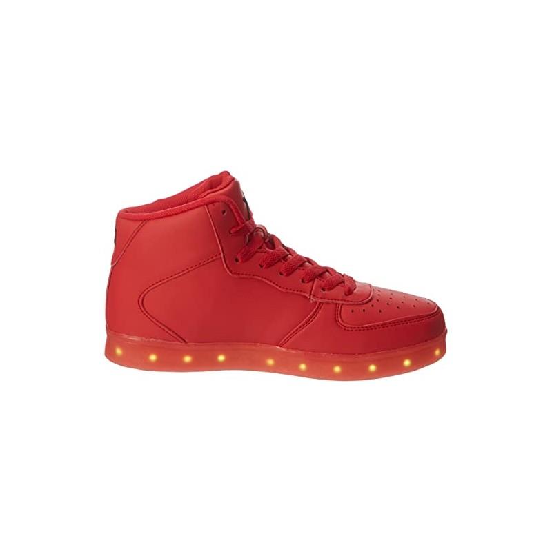 WIZE & OPE LED-Hi, Sneaker a Collo Alto Unisex-Adulto, Rosso